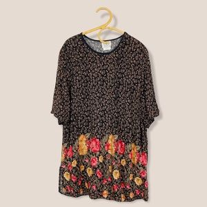 Vintage | Jane Lane Collection | Fall Floral Oversized Tunic